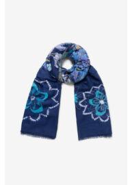 Desigual 19WAWA45 5074 Női mintás kék kendő