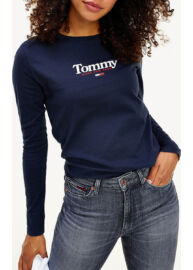 Tommy Hilfiger DW0DW08941 C87 Női sötétkék hosszú ujjú póló