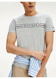 Tommy Hilfiger MW0MW13328 P92 világosszürke férfi póló