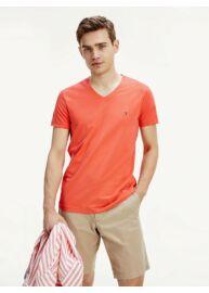 Tommy Hilfiger MW0MW13343 SOG Piros színű férfi póló