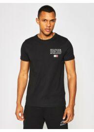 Tommy Hilfiger MW0MW13347 BDS Férfi feliratos fekete póló