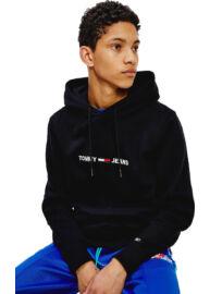 Tommy Hilfiger DM0DM08474 BDS Férfi fekete kapucnis pulóver