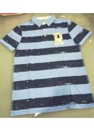 Tom Tailor 1528675 90 30 6821 Gyerek kék színű csíkos galléros póló
