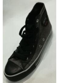 Devergo TI1216 20104 Női fekete-szürke színű magasszárú utcai cipő