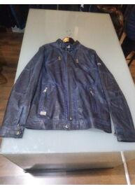 Twinlife MJT 411117 Carbon kék színű bőrhatású dzseki