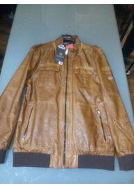 Twinlife MJT 411118 Konyak színű bőrhatású dzseki