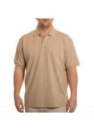 Kitaro 68800 706 Férfi drapp galléros nagyméretű póló Méret: 5XL/64