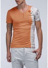Antony Morato MMKS00539 5025 Férfi narancssárga v nyakas póló