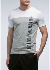 Antony Morato MMKS00610 9013 F érfi s zürke-fehér póló