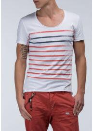 Antony Morato MMKS00627 1000 Férfi fehér csíkos póló Méret: XL