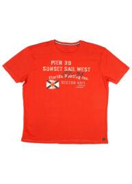Kitaro 171108 458 Piros feliratos póló