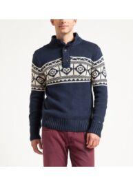 Tommy Hilfiger 1957836194 002 kék kötött férfi pulóver