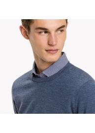 Tommy Hilfiger TT0TT01068 434 Férfi kék kötött pulóver