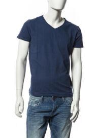 Devergo 1D514069SS0105 kék v nyakas férfi póló