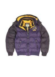 Devergo 1D423011KA1600 37 Férfi szürke-lila színű steppelt kabát