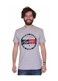 Tommy Hilfiger Denim DM0DM06081 038 Férfi regular fit szürke póló