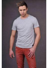Antony Morato MMKS00044 2004 Férfi feliratos hátul szaggatott póló
