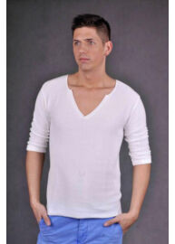 Antony Morato MSW00128 YA100003 férfi 3\4-es ujjú v nyakas póló