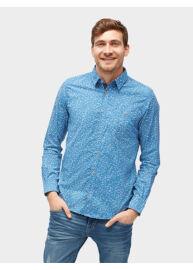 Tom Tailor Denim 2055272 00 10 6695 férfi kék, mintás hosszú ujjú ing