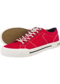 Tommy Hilfiger FM0FM00593 611 Férfi piros vászoncipő