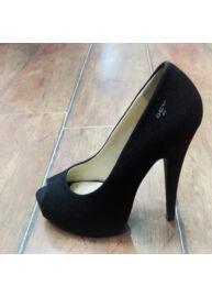 Devergo' 1207 Női magassarkú fekete cipő