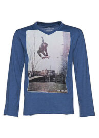 Tom Tailor 1029088 00 30 6727 kék hosszú ujjú gyermek póló