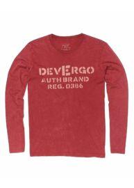Devergo 1D924010LS0124 40 Férfi bordó hosszú ujjú póló