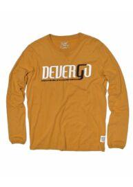 Devergo 1D924001LS0401 5 férfi regular fit mustár színű hosszú ujjú póló