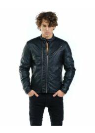 Devergo 1D923032KA9000 16 Férfi bőrhatású fekete dzseki