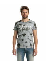 Devergo 1D014018SS0122 82 Férfi Grey batikolt póló