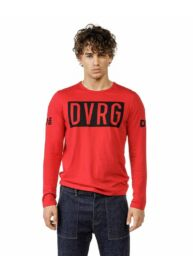 Devergo 1D20FW4011LS0105 39  Férfi hosszú ujjú piros póló