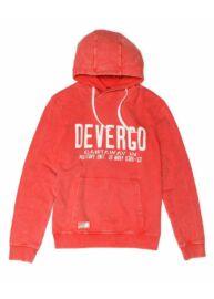 Devergo 1D014073LS0724 39 Férfi piros kapucnis pulóver