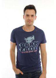 Devergo 1D324004SS3820 feliratos férfi póló