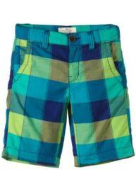 Tom Tailor 6401452 00 30 6668 kék-zöld kockás gyermek bermuda