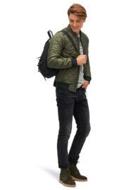 Tom Tailor 3555037 00 12 7807 Férfi zöld steppelt dzseki