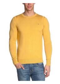 Hilfiger Denim 1957836523 710 Férfi mustár kötött pulóver