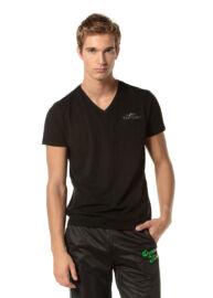 Devergo 1D724020SS3805 16 fekete férfi póló
