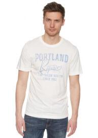 Tom Tailor 1030868 00 10 8005 Fehér feliratos férfi póló
