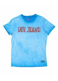 Devergo 1d914027SS0123 15 Férfi regular fit kék póló