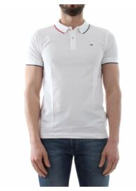 Tommy Hilfiger Denim 1957890300 100 Féfi galléros fehér póló