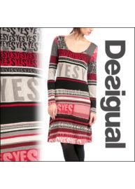 Desigual 58V21D6 3099 Csíkos-mintás női ruha