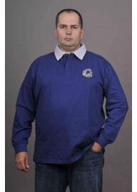 Kitaro 125202 240 Kék galléros férfi hosszú ujjú póló