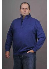 Kitaro 125271 240 Kék férfi gombos és zipzáros pulóver Méret: 5XL/64
