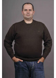 Kitaro 125310 5708 Barna férfi nagyméretű kötött pulóver