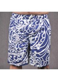 KITARO 131414-210 Kék-fehér mintás férfi úszónadrág