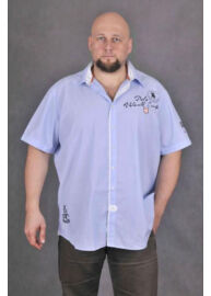 KITARO 1317331 07-SHI-Kék férfi rövid ujjú ing