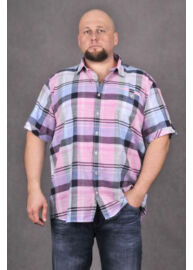 KITARO 1317521 37-RUI-Pink-lila férfi rövid ujjú ing
