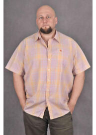 KITARO 1317631 14-RUI Narancs férfi rövid ujjú ing