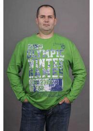 Kitaro 135130 540 Zöld hosszú ujjú férfi póló