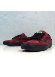 Vans QEXYW9 bordó bőr félcipő